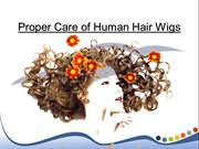 Proper Care of Human Hair Wigs