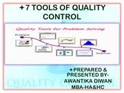 7 TOOLS of quality control