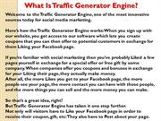 Traffic Generator Engine Review - FREE Facebook Coupon Generator!