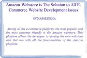 Amazon Webstore is The Solution to All E-Commerce Website Development