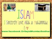 Holy  Quran; Last Book From Allah/God... Dr. Sajid MumtazSodhar