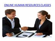 ONLINE HUMAN RESOURCES CLASSES
