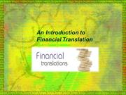 An Introduction to Financial Translation