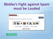 Blekko's Fight against Spam must be Lauded