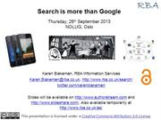 Search is more than Google