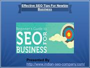 Effective SEO Tips For Newbie Business