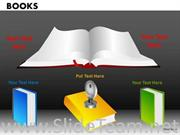 KEY TO EDUCATION BOOKS POWERPOINT DIAGRAM