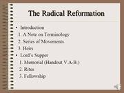 The Eucharist in the Reformation Era II