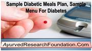 Sample Diabetic Meals Plan, Sample Menu For Diabetes