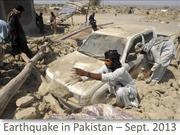 Eathquake in Pakistan September 2013