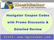 Hostgator Coupon Codes with Promo Discounts & Detailed Review