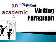Writing an Academic Paragraph