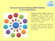 ERP Software Company in India - ACG Infotech Limited