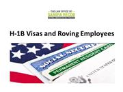 H-1B Visas and Roving Employees