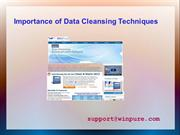 Importance of Data Cleansing Techniques