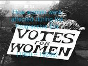 How women were affected during the Progressive Era 2
