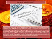 What is a Refinance