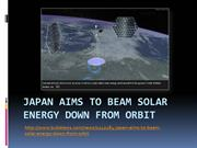 Japan Aims to Beam Solar Energy Down From Orbit