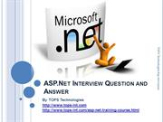 1-10-2013ASP.Net Interview Question and Answer