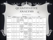 Quantitative Analysis Presentation