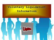Voluntary Liquidation Information