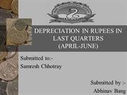 DEPRECIATION IN RUPEES IN
