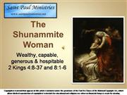 Biblical Women the Shunammite Woman