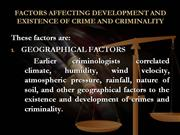 FACTORS OF CRIME