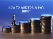 How to Ask For a Pay Hike