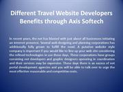 Different Travel Website Developers Benefits through Axis Softech