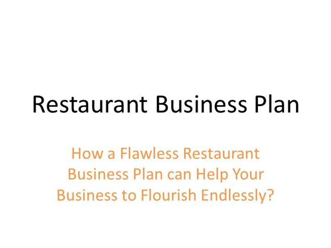Restaurant Business Plan Authorstream