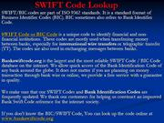 SWIFT Code Lookup