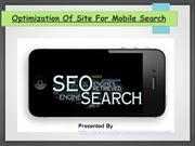 Optimization Of Site For Mobile Search