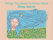 Things you need to know about Sleep Apnea