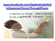 Spoken English, IELTS & Grammar classes