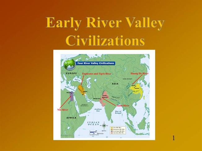 Early River Valley Civilizations AuthorSTREAM - World map of ancient river valley civilizations