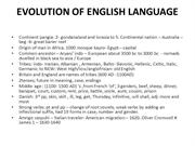 EVOLUTION OF ENGLISH LANGUAGE 2