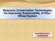 resource conservation technologies for improving sustainability in ric