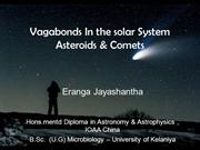 Vagabonds of the solar system Lecturev by ErangaJayashantha