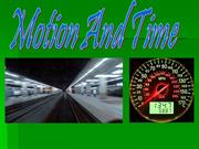 MOtion and time