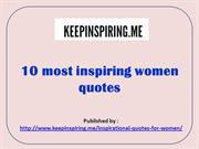 10 most inspiring women quotes