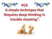 PCR trouble shooting