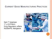 Good manufacturing practices, comparisson between USGMP& EU GMP