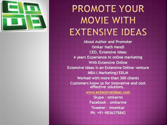 promote your movie with extensive ideas |authorstream, Powerpoint templates