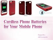 Cordless Phone Batteries for Your Mobile Phone