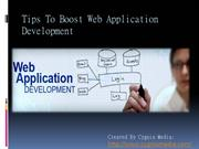 Tips To Boost Web Application Development