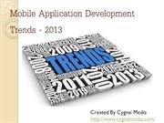 Mobile Application Development Trends - 2013