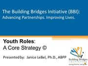 Youth Roles: A Core Strategy