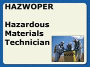 HAZWOPER+technician+level