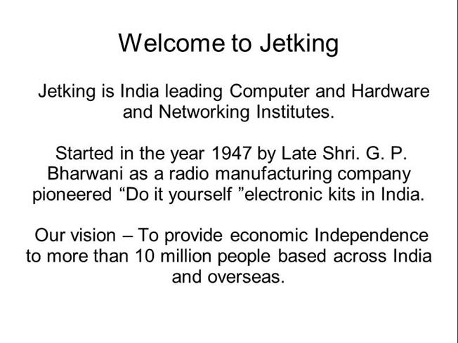 Jetking PPT |authorSTREAM